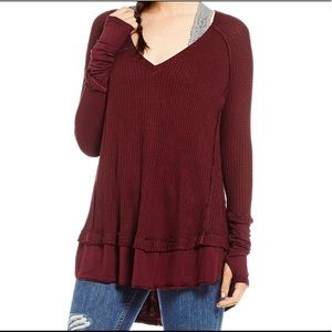 Free PeOple We The Free People Waffle KnitTop M